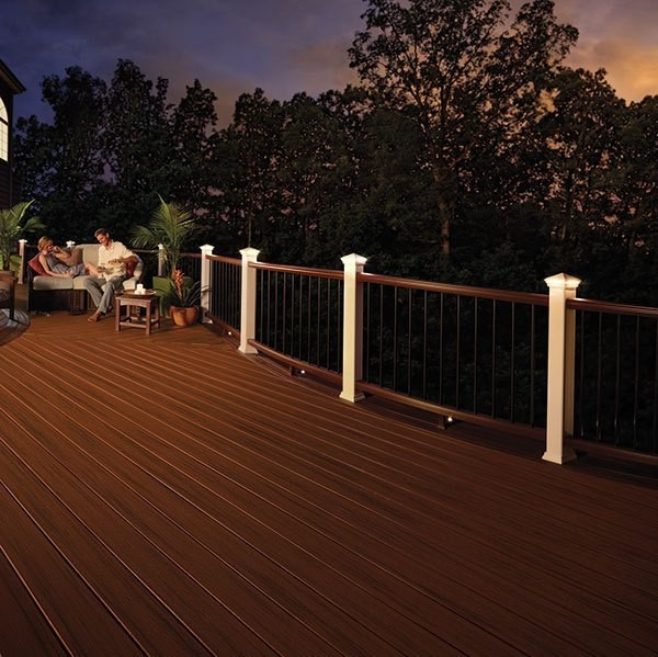 People on deck during sunset outdoor living