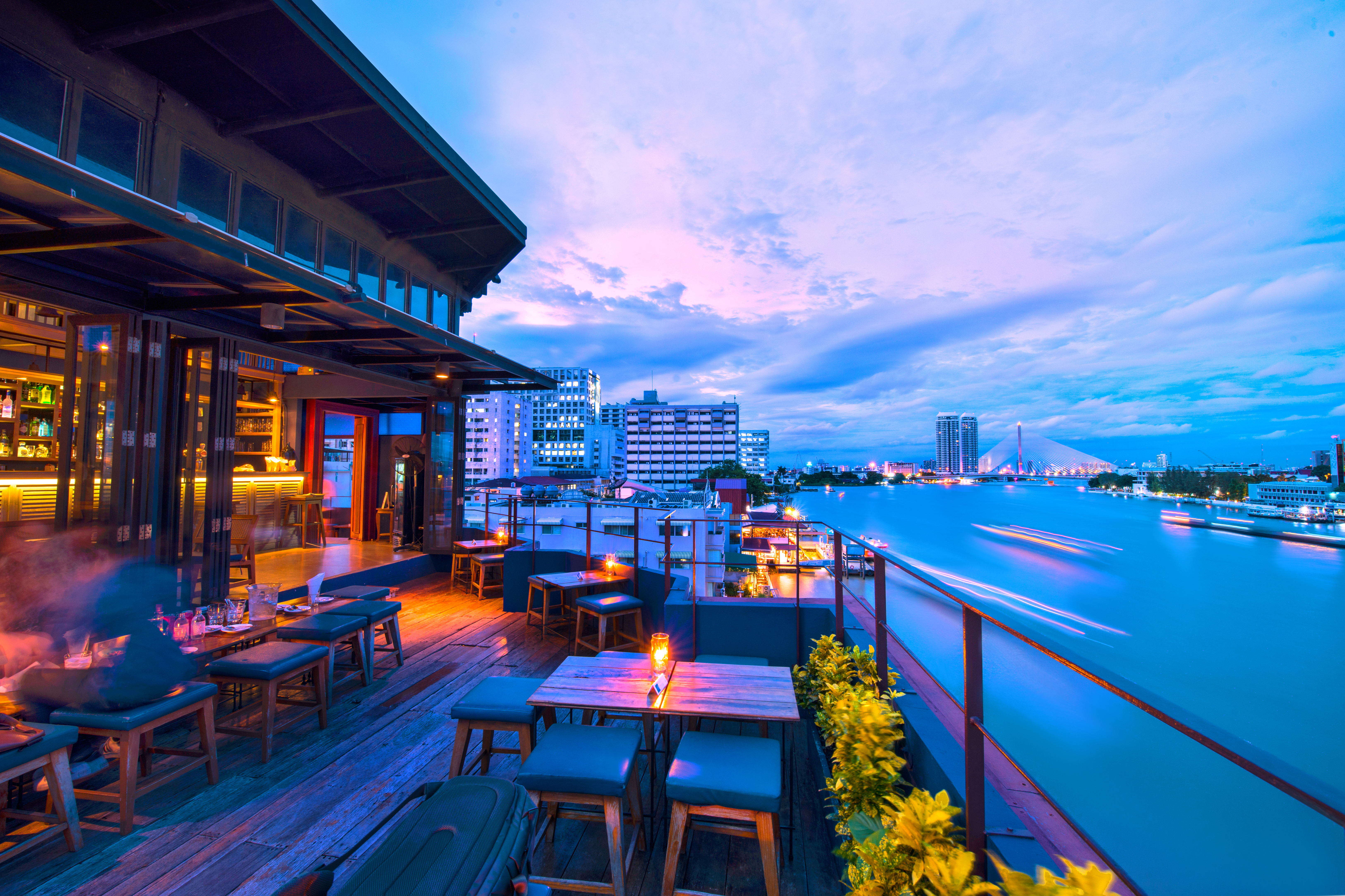 commercial restaurant deck on the water