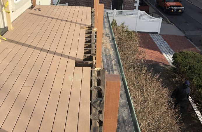 Mahogany and Ipe Roof Top Deck Repairs