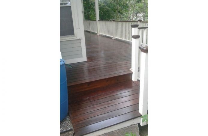 Pressure-Treated Pine deck with Natural Tone Sealer