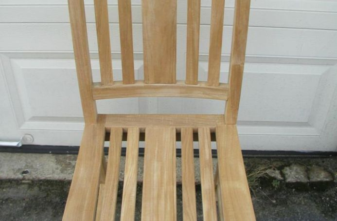 Teak Chair with a Clear Sealer