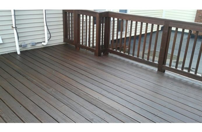 Pressure-Treated Pine with Dark Oak Tone Sealer