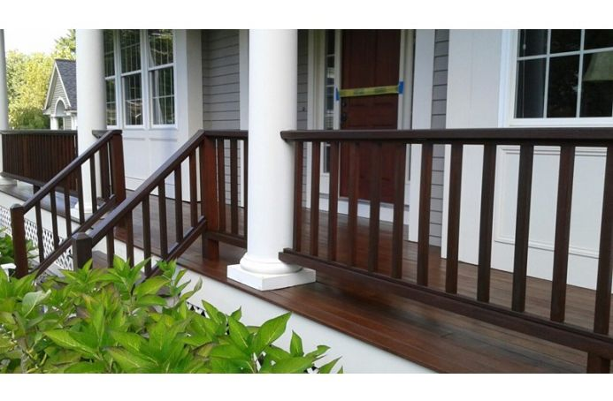 Mahogany Deck with Dark Oak & Teak Tone Sealer