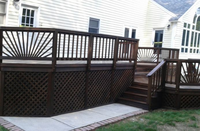 IPE Deck Finished in a Natural Tone Sealer