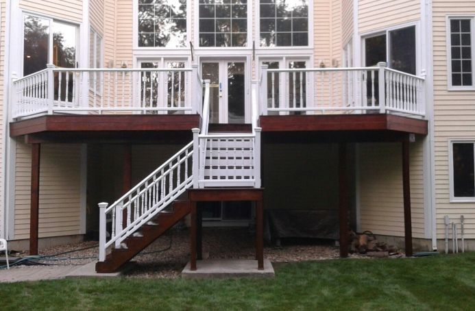 Mahogany Deck with Mahogany Tone Sealer