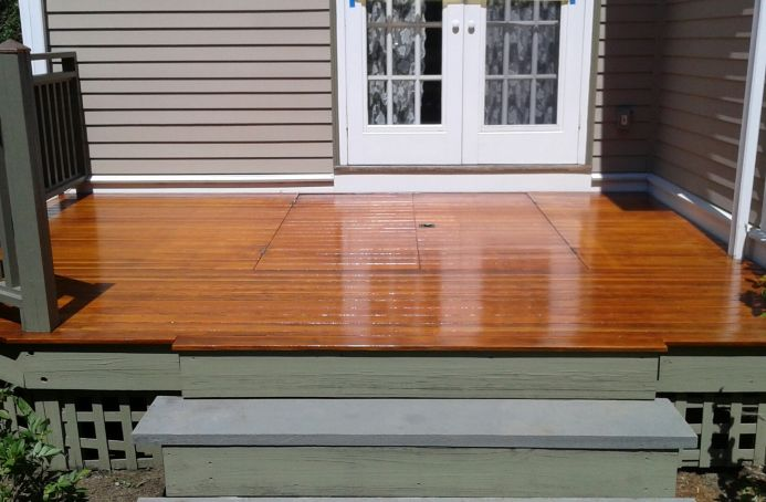 Douglas Fir Decking Finished in a Natural Tone Sealer