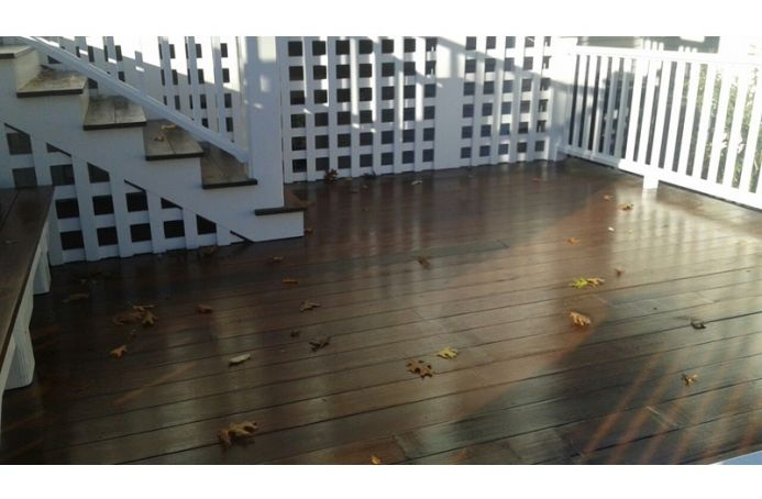 Mahogany Deck and Stairs with Teak Sealer