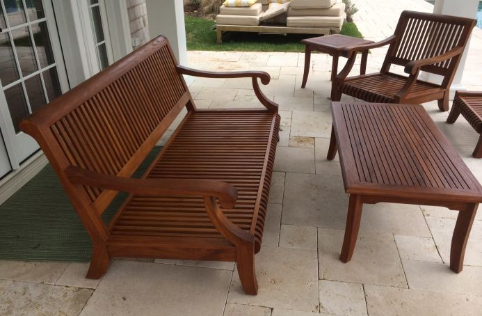 Mahogany Furniture Finished in a Teak Tone Sealer
